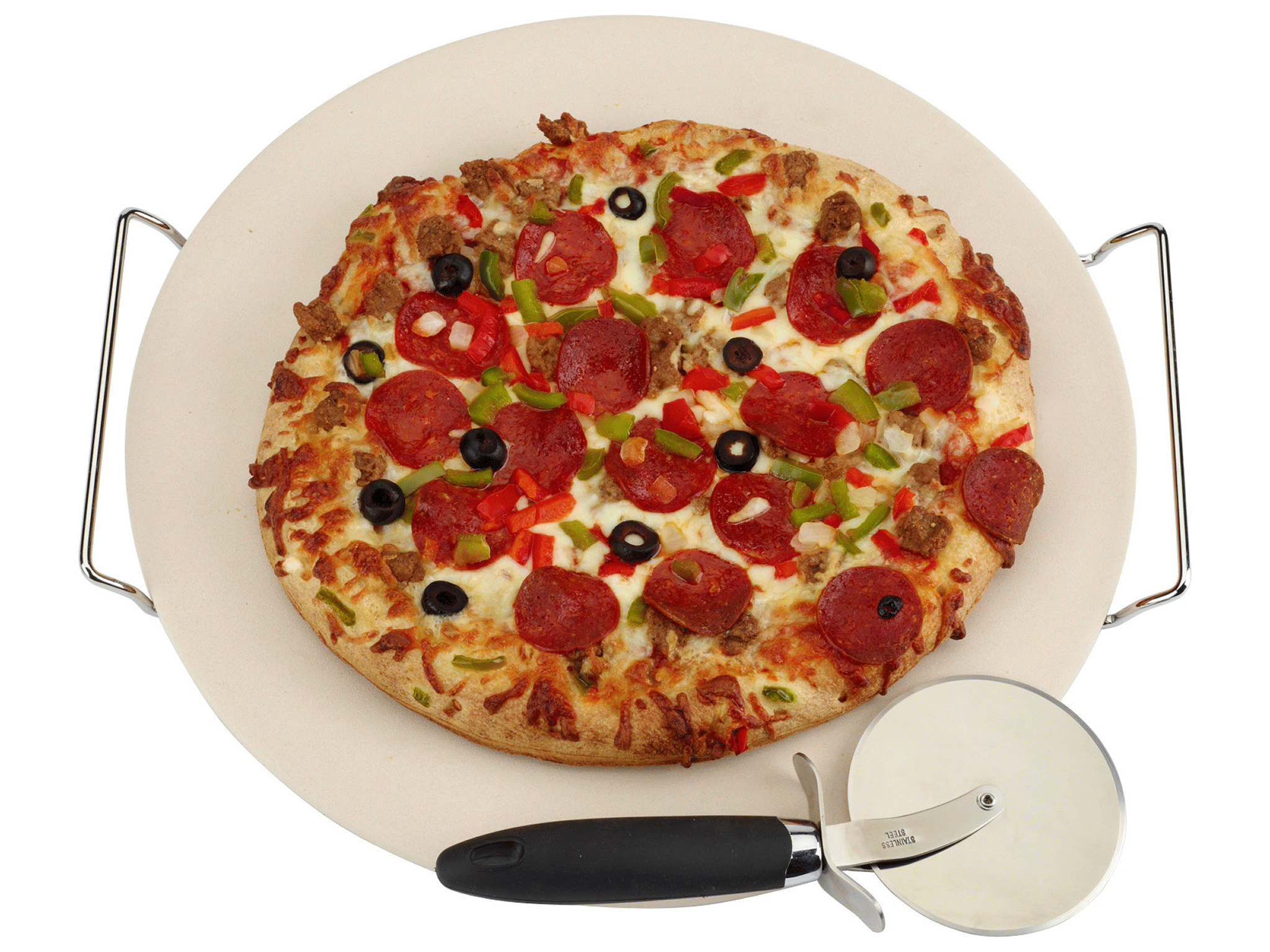 California Pizza Kitchen Chicken Tequila Fettuccine Grand Gourmet 15 Round Pizza Stone With Rack  Meijer