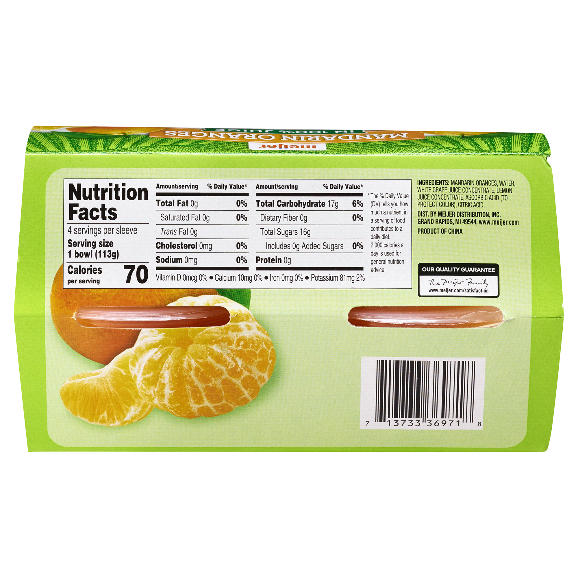 meijer mandarin oranges in 100% juice 4 pk/4 oz | meijer