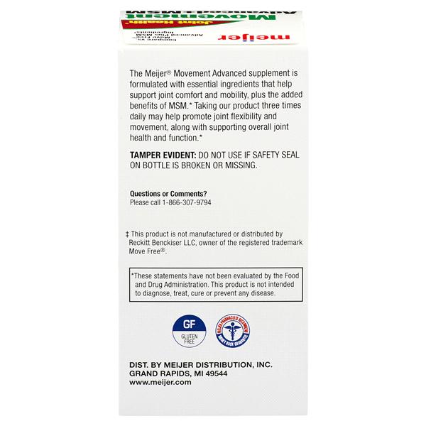 e6bb83c3368 Meijer Glucosamine Chondroitin w MSM 120 count