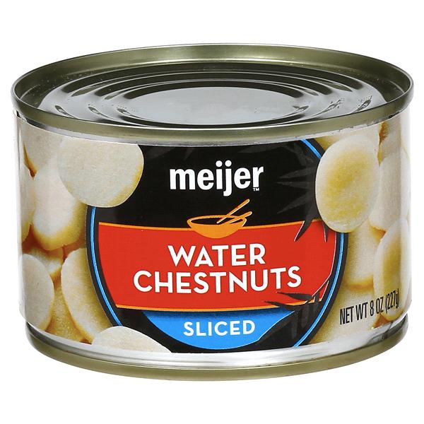 Meijer Sliced Water Chestnuts 8 Oz