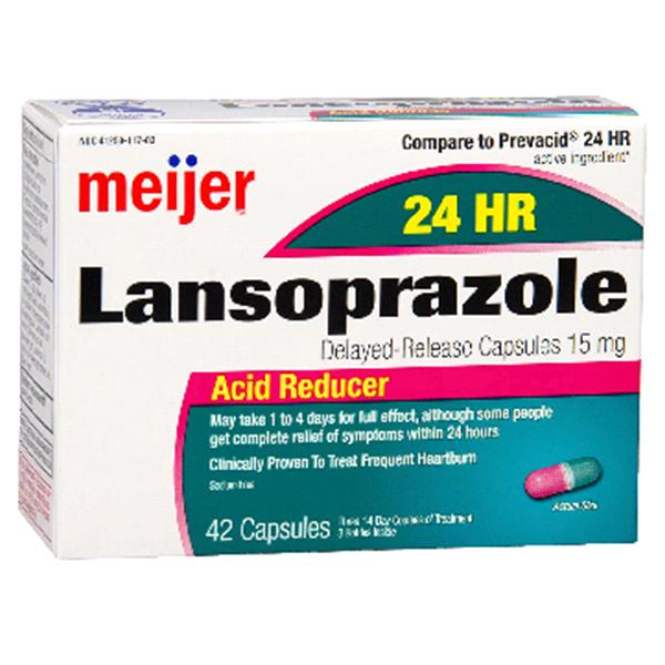 Meijer Lansoprazole Delayed Release Capsules 15mg 42 Ct