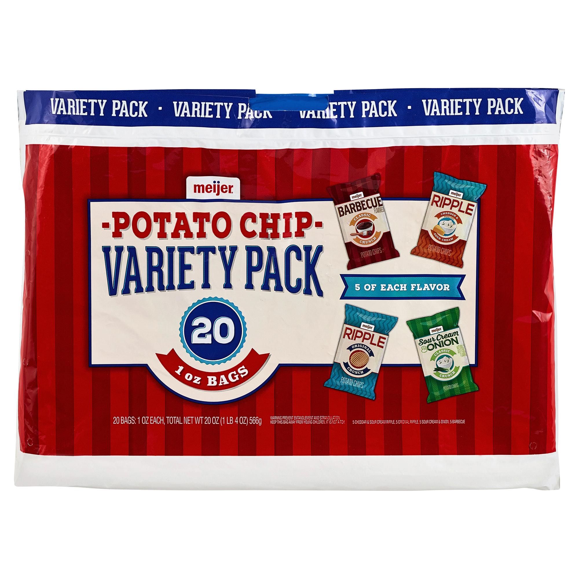 Meijer Potato Chips Variety Pack 20 ct | Meijer.com