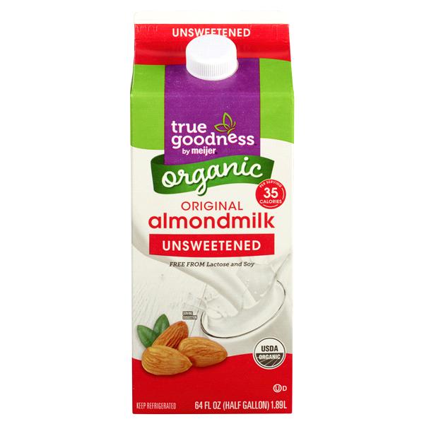 true goodness organic almondmilk 64 fl oz