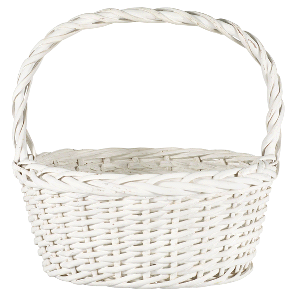 Medium White Willow Easter Basket | Meijer.com