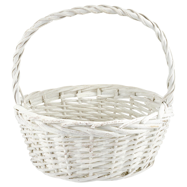 Large White Willow Easter Basket | Meijer.com