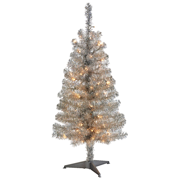 december home prelit silver tree 4 ft