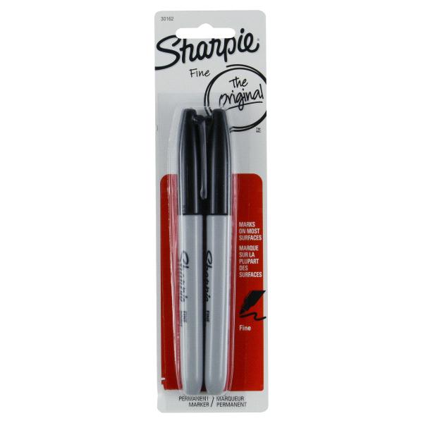 Sharpie Permanent Black Markers Fine Point 2/PK (30162PP)   Meijer.com