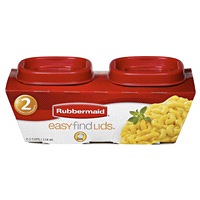 Rubbermaid Easy Find Lids Square Food Storage Container .5 Cup 2 Pack