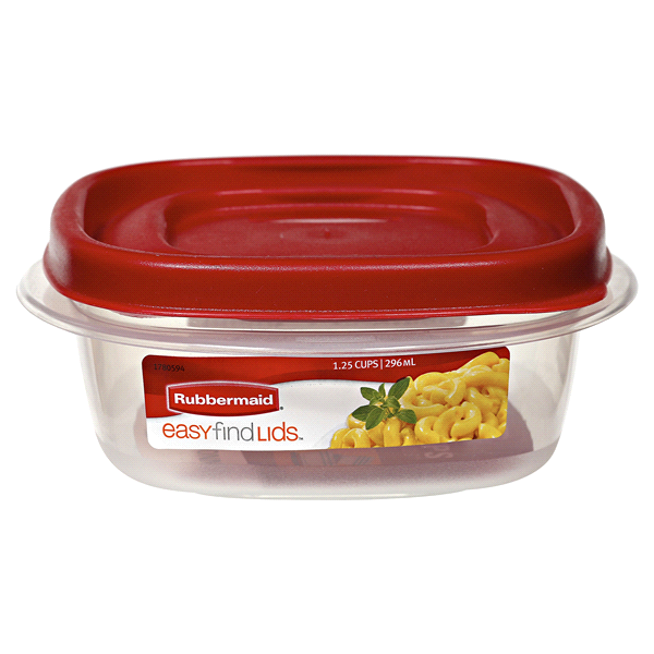 Rubbermaid Easy Find Lids Square Food Storage Container 125 Cup