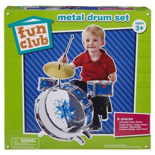 Fun Club Metal Drum Set Meijer Com
