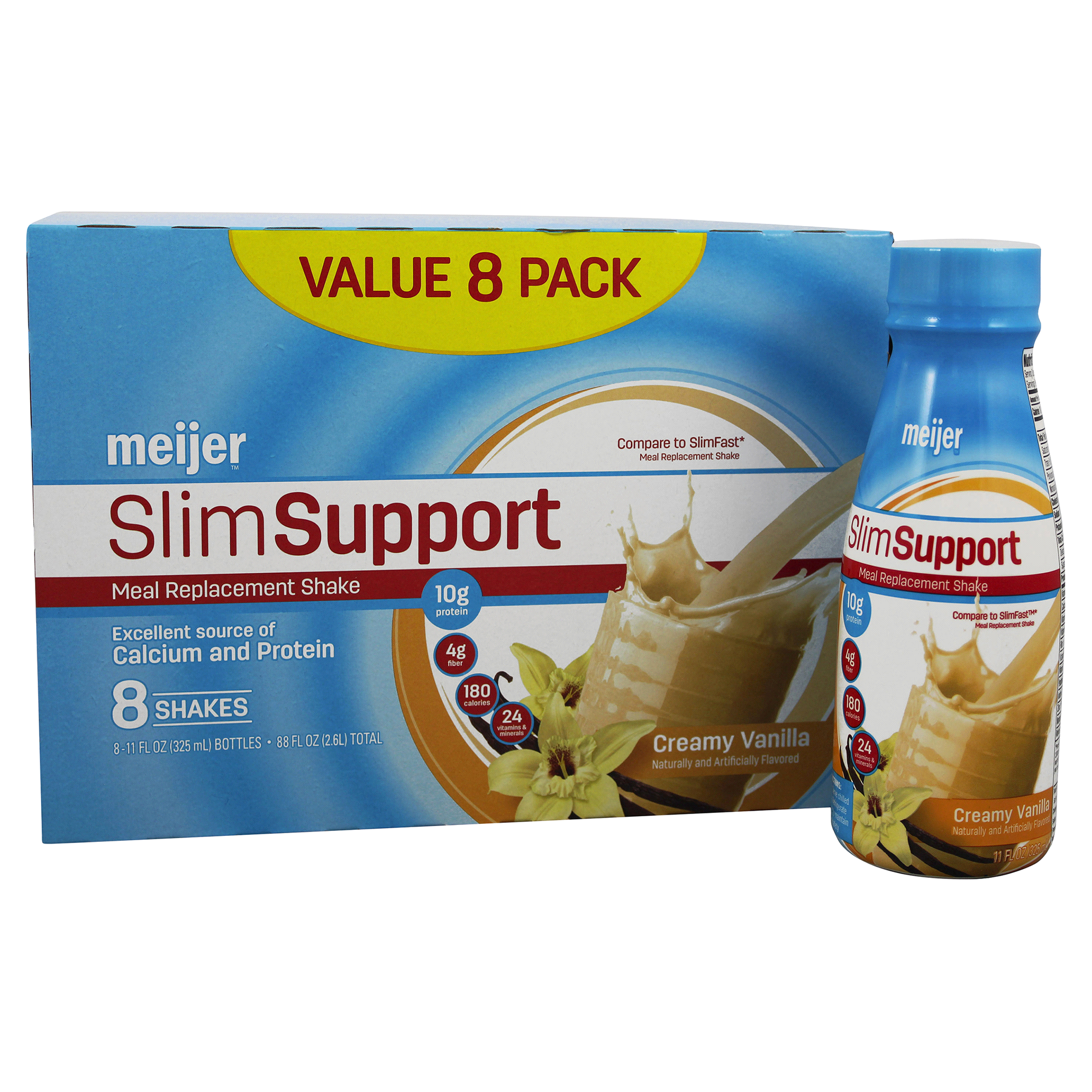 Meijer Slim Support Meal Replacement Shake Creamy Vanilla 8 pk ...