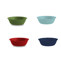 PP Individual Bowl 4 Pk Assorted Colors 7.2
