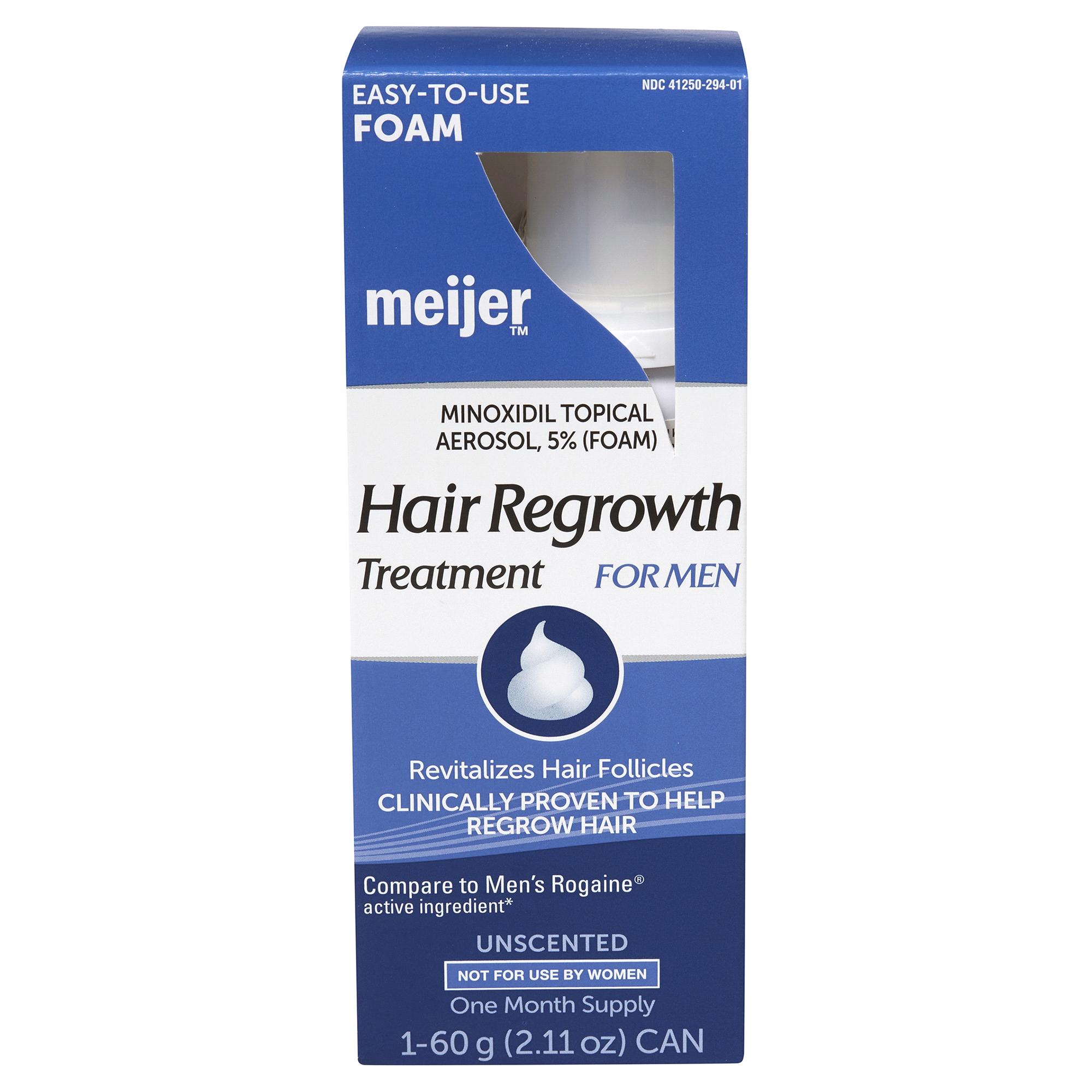 Meijer Brand Mens Minoxidil 5 30 Day Foam Rogaine Topical Aerosol