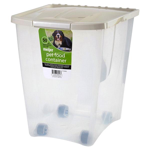 Meijer Pet Food Container 50 Lb