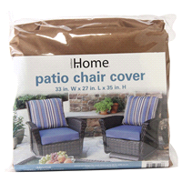home patio chair cover beige 33 inch x 27 inch x 35 - Patio Chair