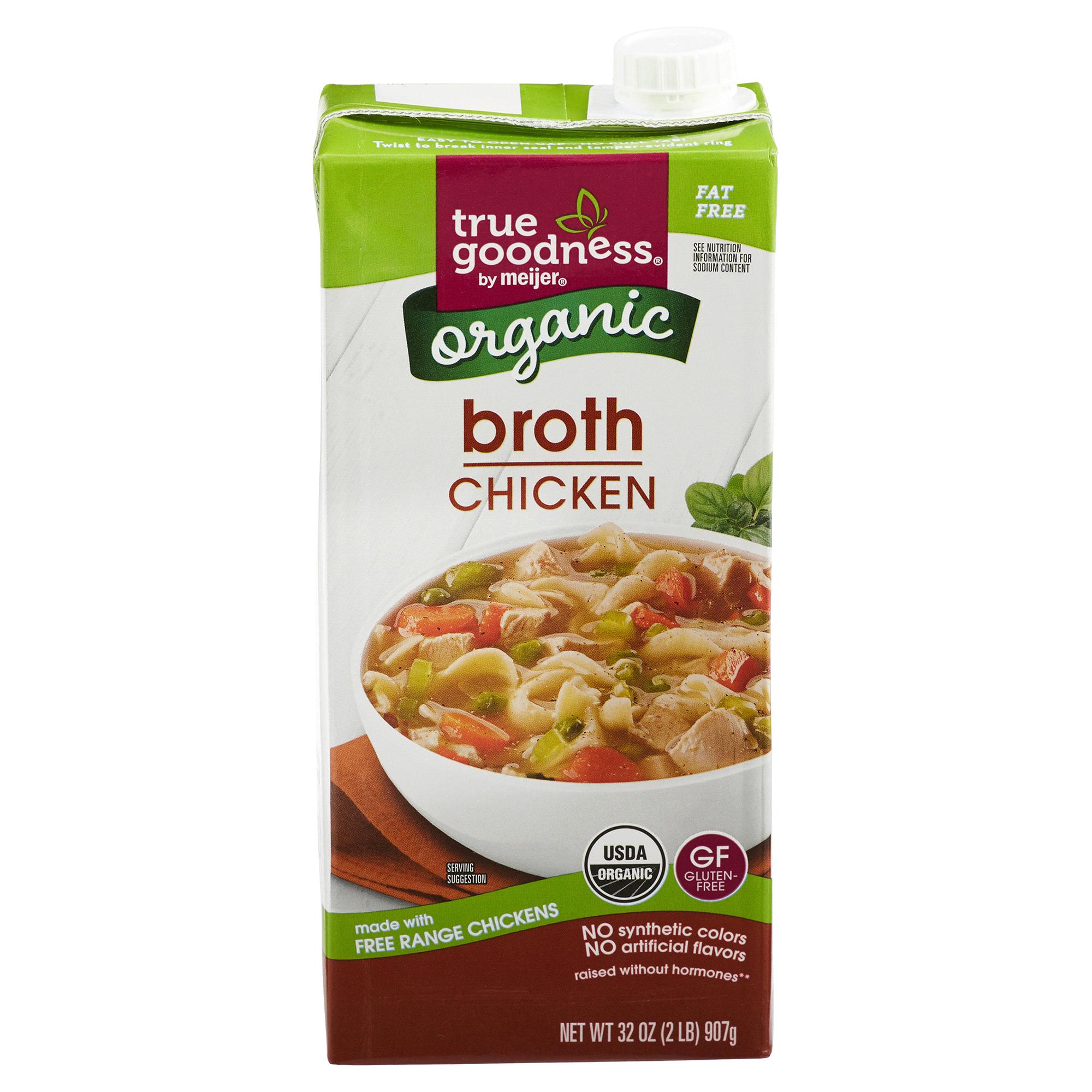 True Goodness Organic Chicken Broth 32 oz | Meijer.com