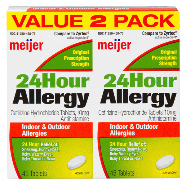 meijer 24 hour allergy cetirizine 45 ct 2 pack | meijer, Skeleton
