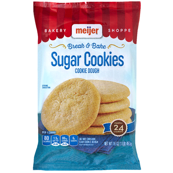 Meijer Sugar Cookies Break N Bake Cookie Dough 16 Oz Meijer Com