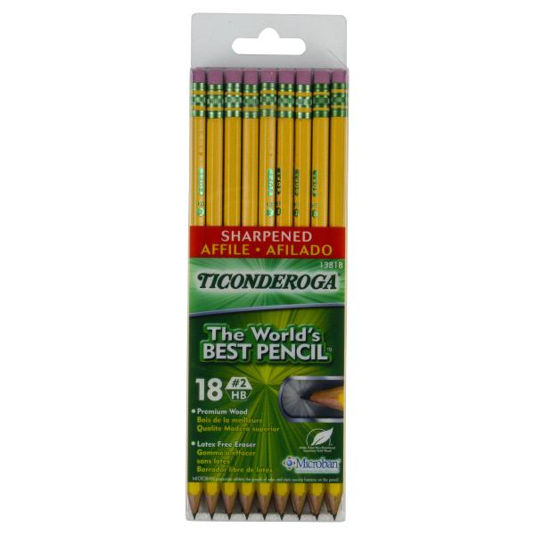 Merveilleux Ticonderoga #2 Yellow Pencils Pre Sharpened 18 Count   Meijer.com