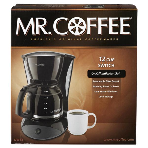 Mr Coffee Switch 12 Cup Coffeemaker Black