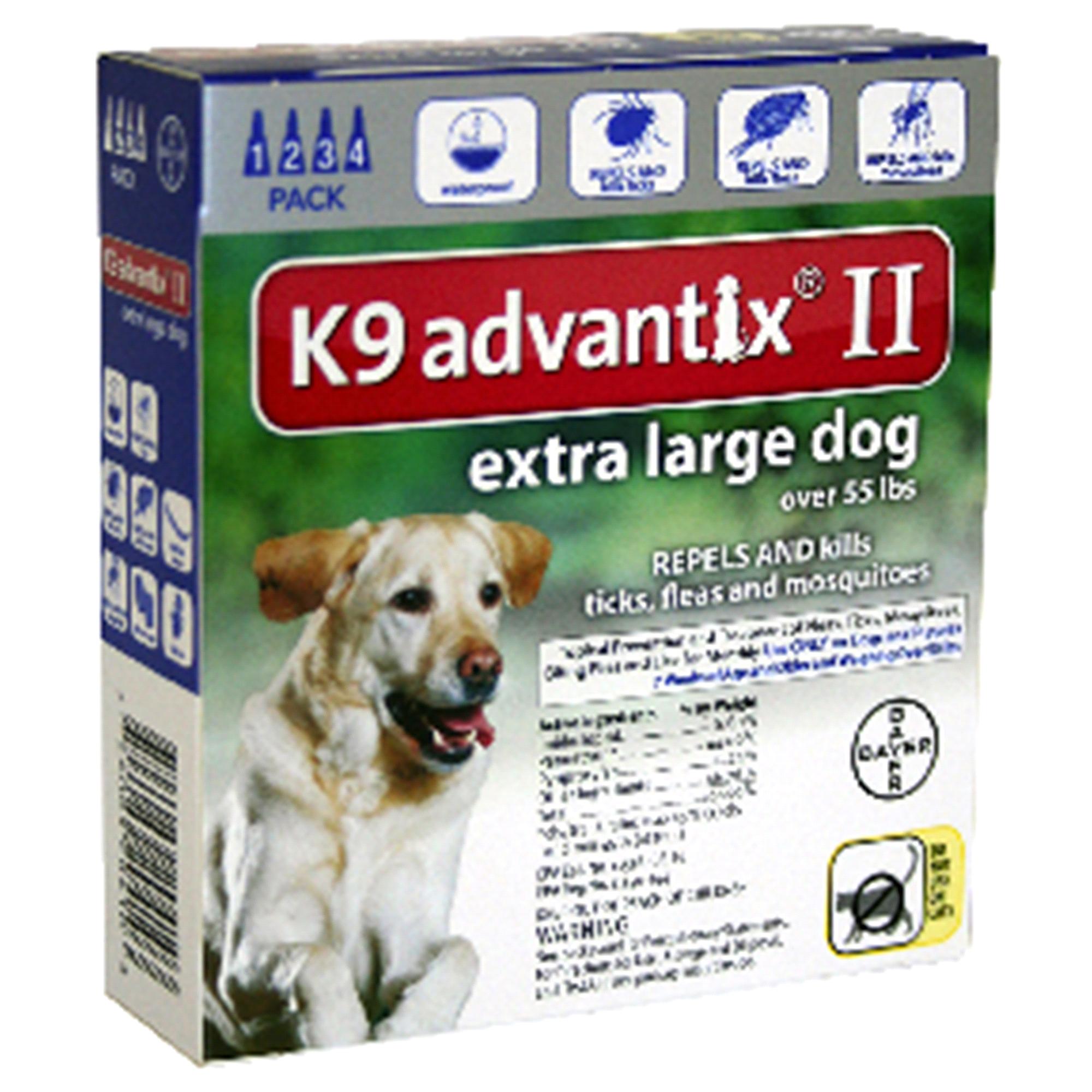 K 9 Advantix II Flea Tick Drops For Dogs 55 Lbs Or More 4 Pk