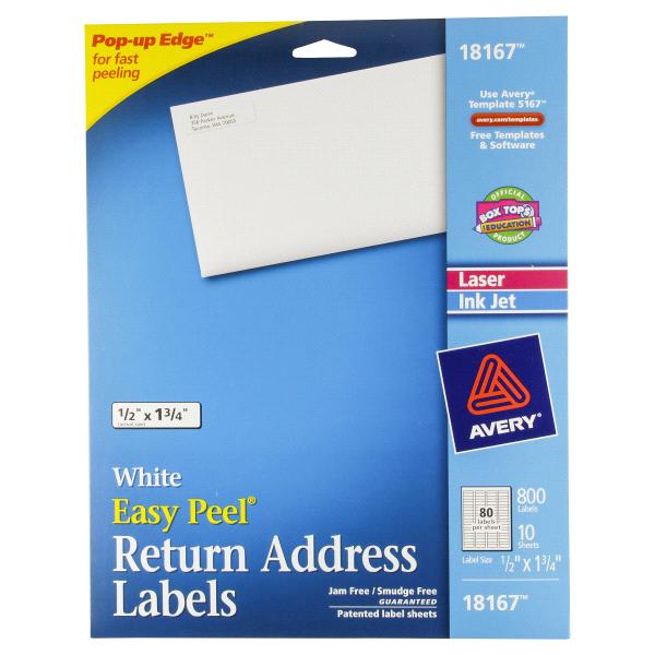 avery white return address labels 18167 meijer com