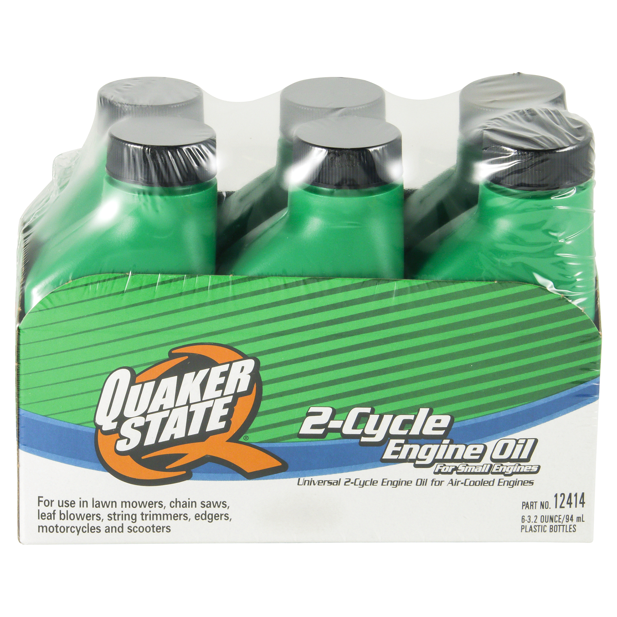 Quaker State Universal 2 Cycle Engine Oil 6 Pk 32oz Bottles