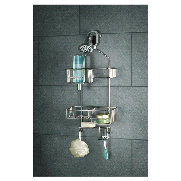 Smart Double Basket Shower Caddy Brushed Nickel | Meijer.com
