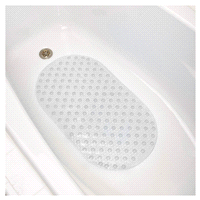 Oval Bubble Tub Mat Clear