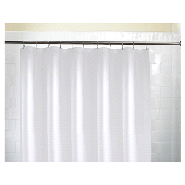 Super Softy Shower Liner White