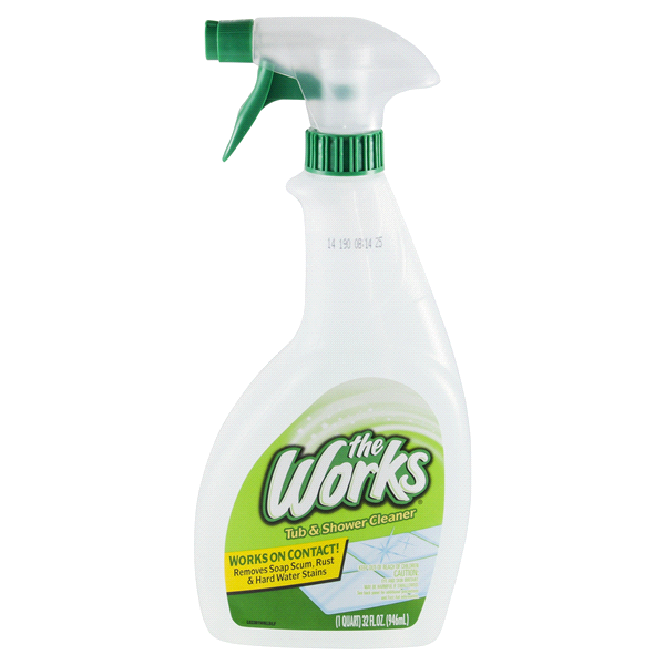 the works tub and shower cleaner 32oz trigger