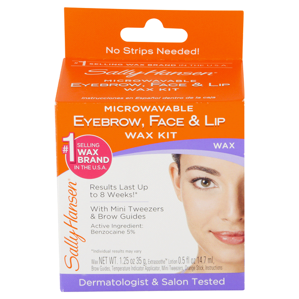 Sally Hansen Microwavable Eyebrow Face And Lip Wax Kit 3 Oz