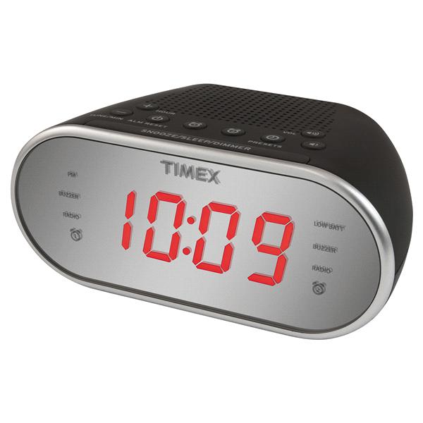 Timex nature sounds alarm clock radio am/fm battery backup model.