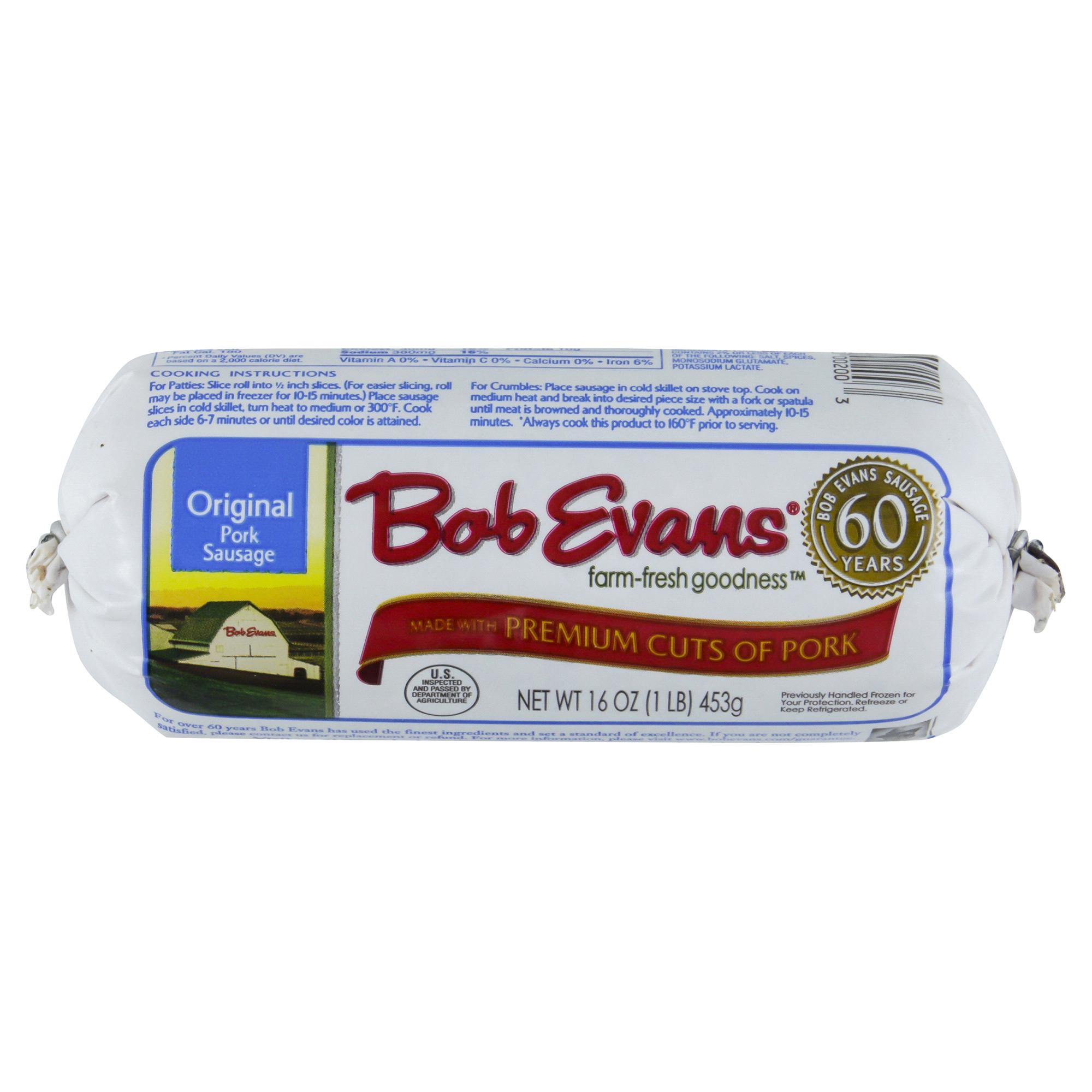 Bob Evans Pork Sausage Roll Original 16 oz | Meijer.com
