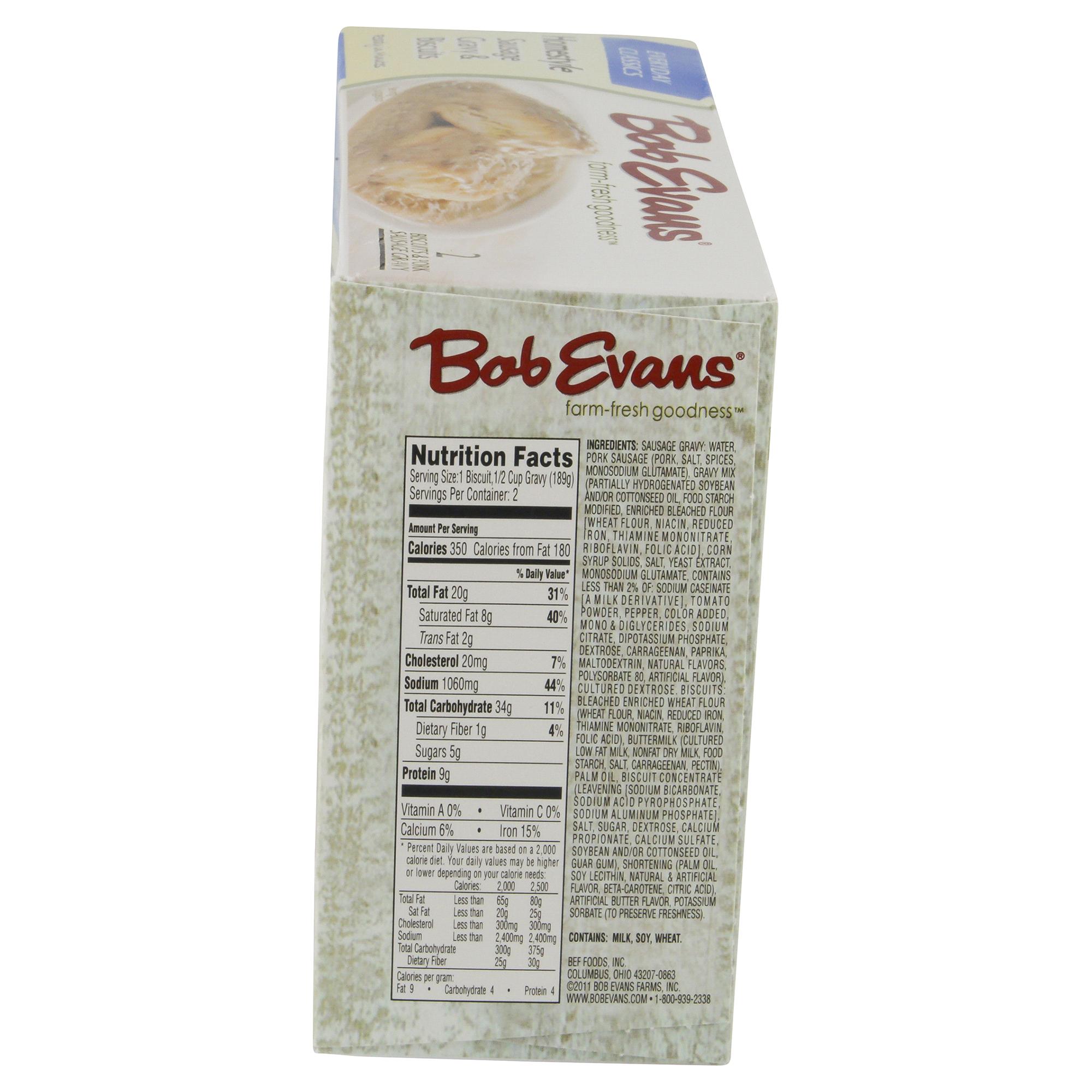 Bob Evans Gravy Homestyle Pork Sausage Gravy & Biscuits 13.5 oz ...