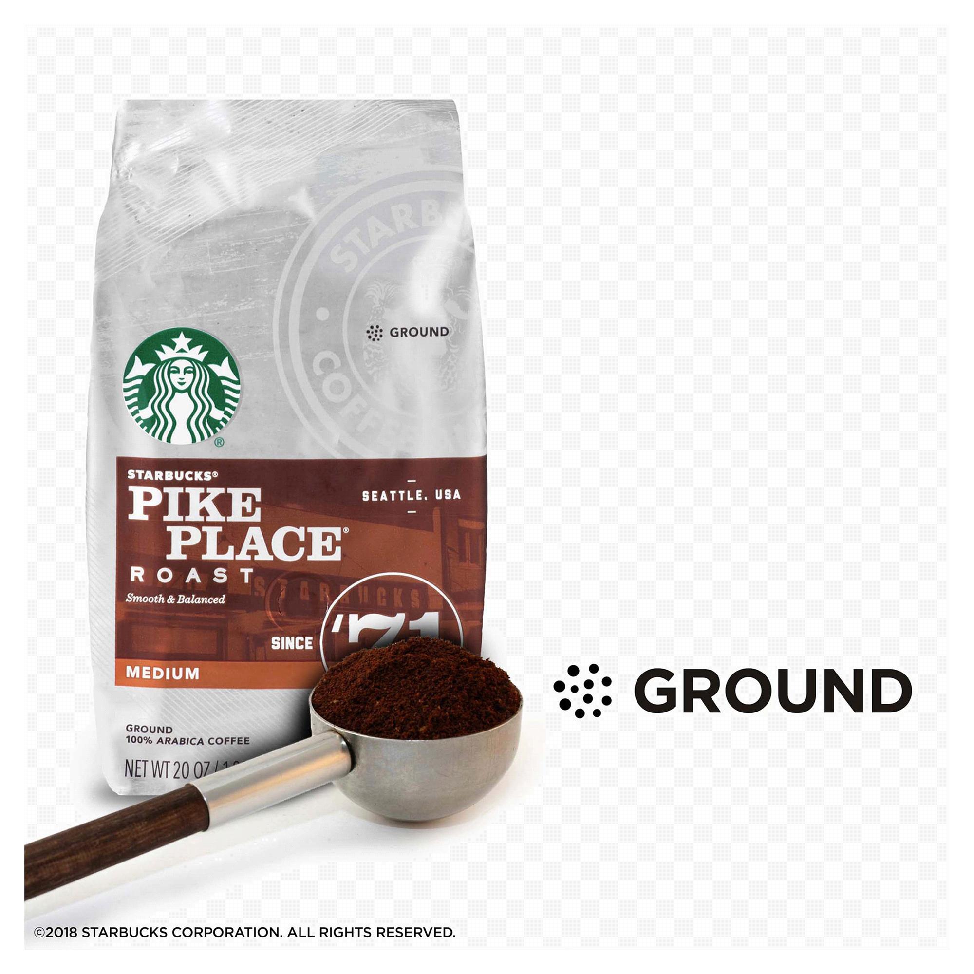 Starbucks Pike Place Roast Medium Roast Ground Coffee 20-Ounce Bag ...