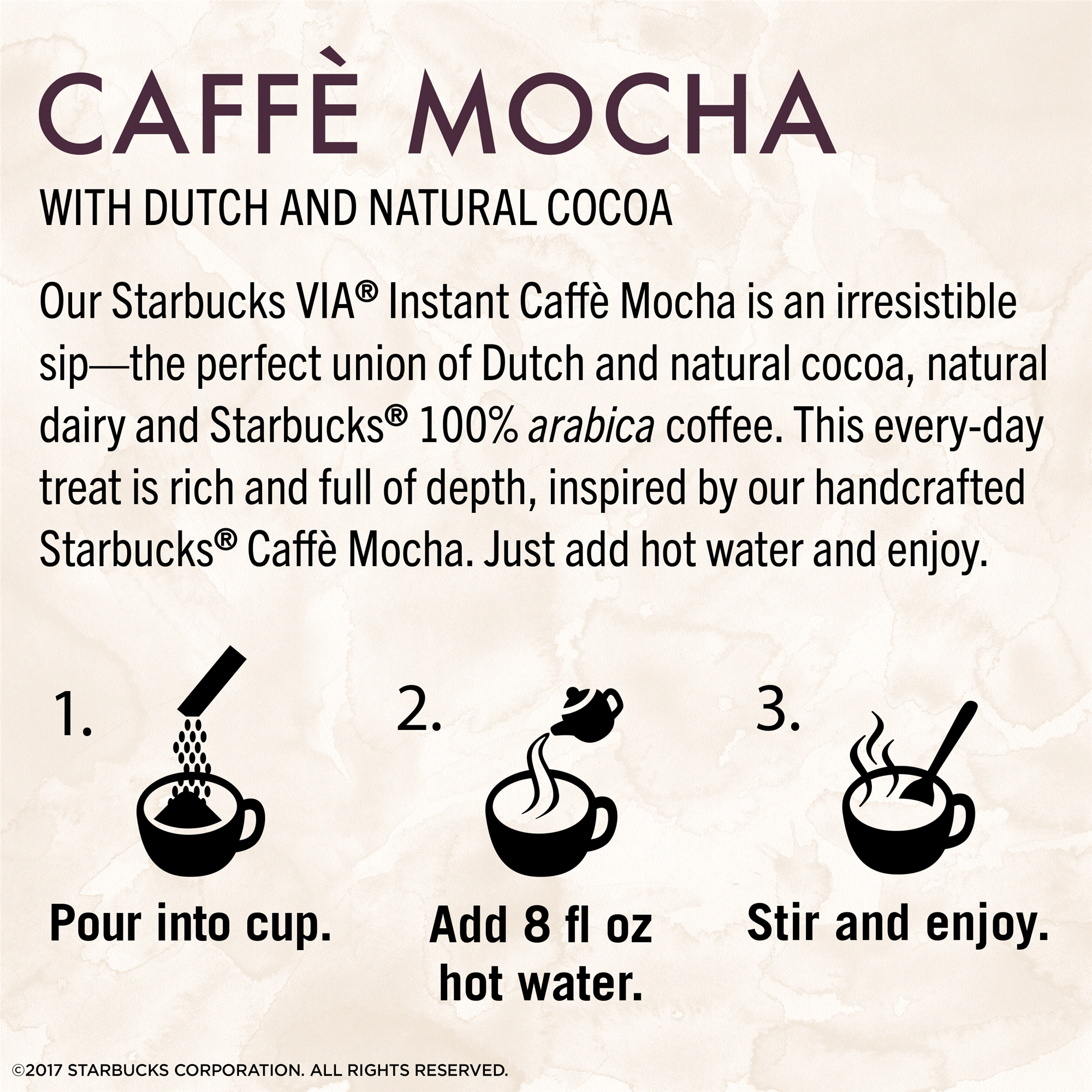 Starbucks VIA Instant Caffè Mocha Latte (1 box of 5 packets ...