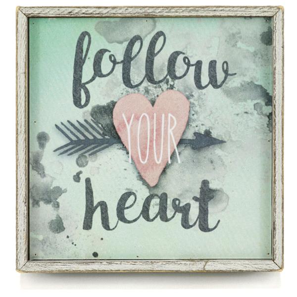 Follow Your Heart Framed Sign Meijer