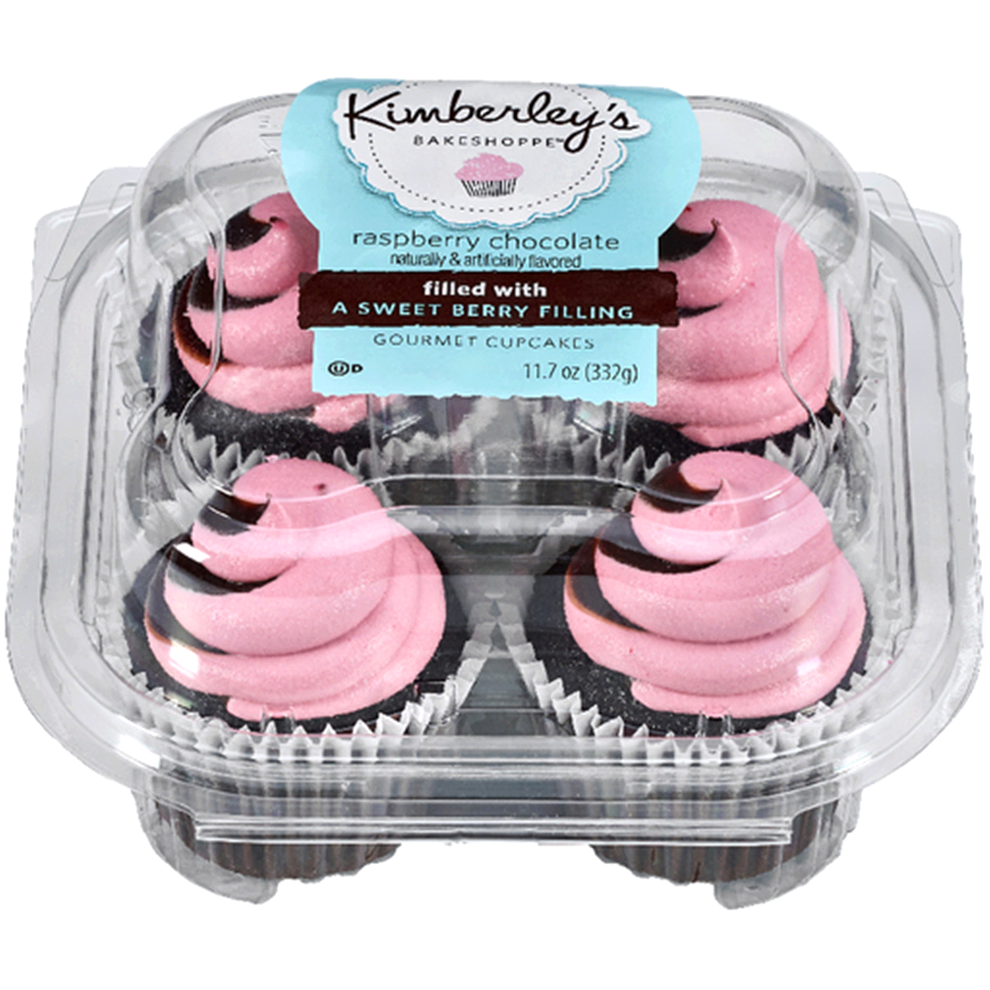 Kimberlys Cupcakes Chocolate Raspberry 4ct 11 7 oz
