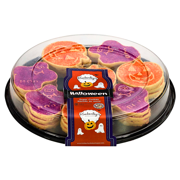 Kimberlys Halloween Sugar Cookie Tray Pumpkin And Ghost Shaped 22 8