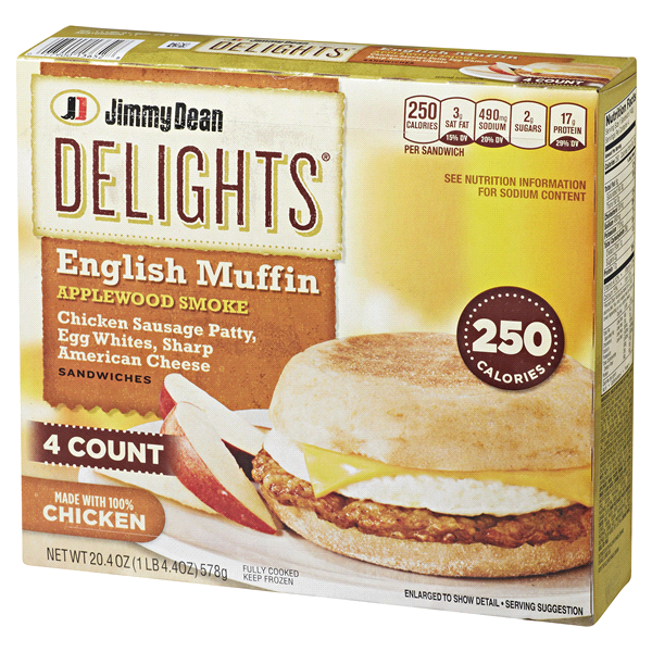 Jimmy Dean Delights English Muffin Applewood Smoked Chicken Sausage