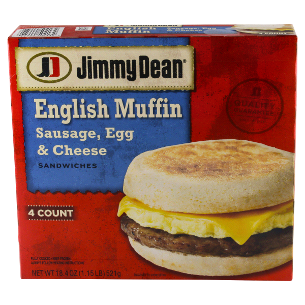 Jimmy Dean 4 Count Sausage Egg Cheese Muffin 184 Oz Meijer