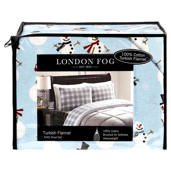 London Fog Flannel King Sheet Set Snowmen Meijer Com