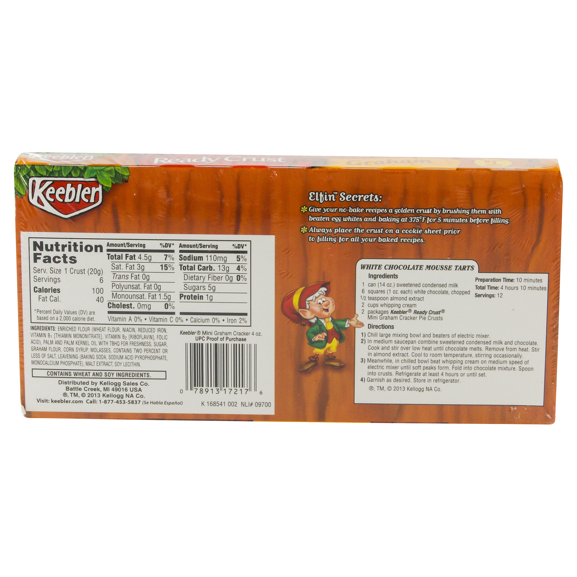 Keebler® Ready Crust® Mini Graham Cracker Pie Crust 6 Count | Meijer.com