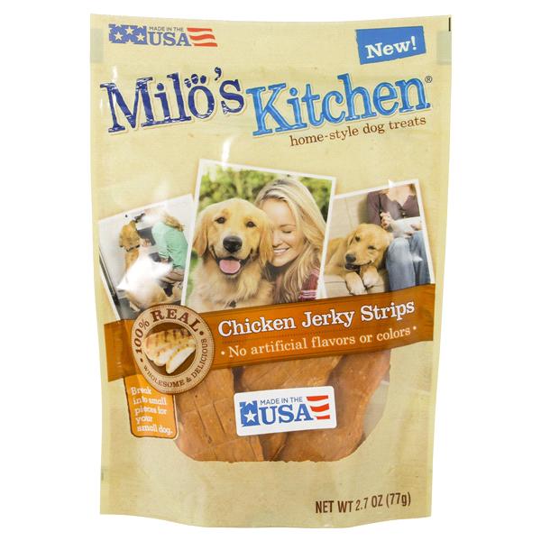 Chicken strip dog treats