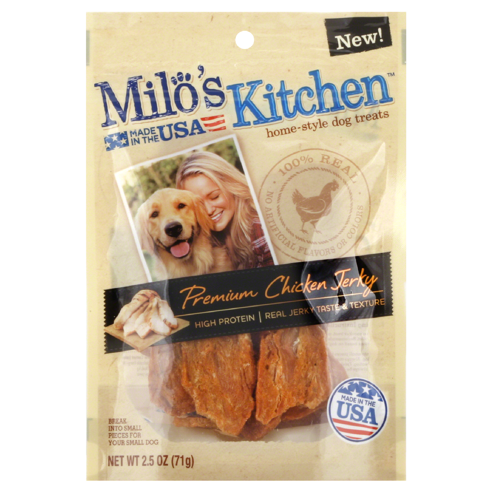 Milos Kitchen Homestyle Dog Treats Chicken Jerky 2.5oz | Meijer.com