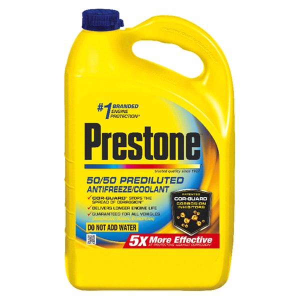 Prestone 50 50 Ready-To-Use Prediluted Extended Life Antifreeze Coolant -  Gallon  097bde60e08