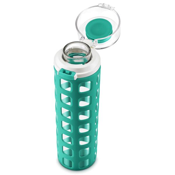 ello syndicate 20oz glass water bottle mint meijer com
