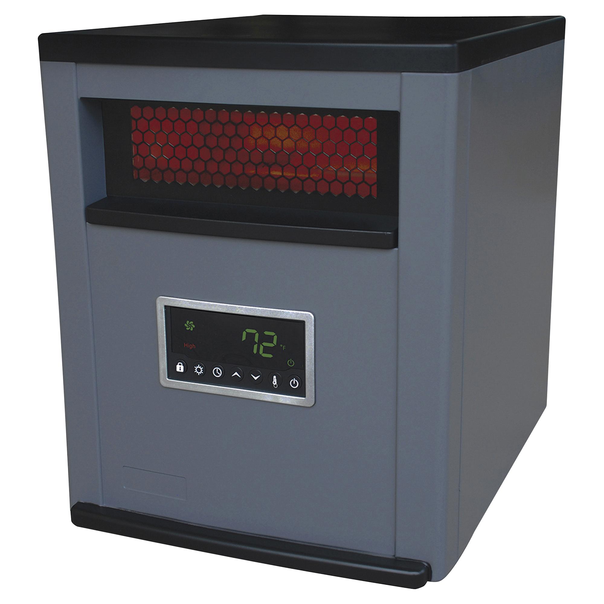 LifeSmart 6 Element Infrared Heater Two Tone Grey/Black Plastic ...