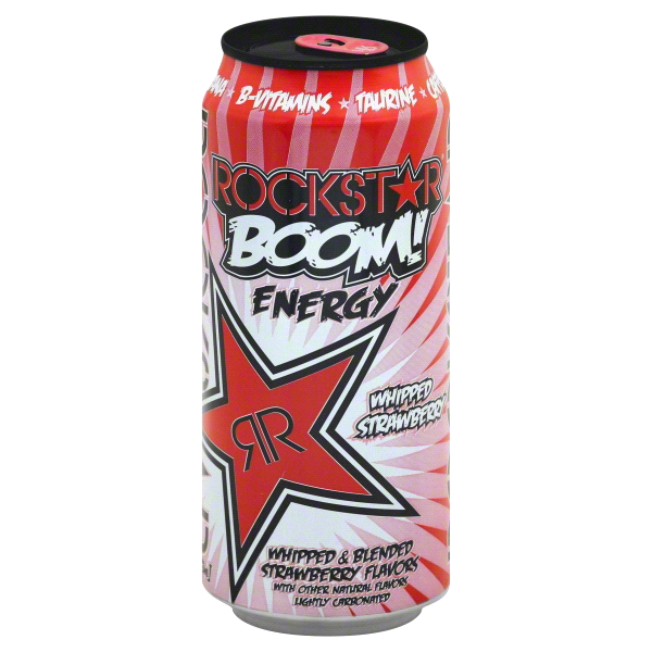 bf14d9847d8 Rockstar Boom! Whipped Strawberry Energy Drink 16 oz